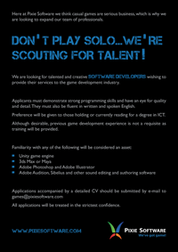 Recruitment advert - June 2012